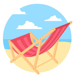 bach chair at seaside vector image