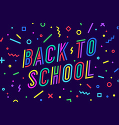 back to school banner speech bubble poster vector image