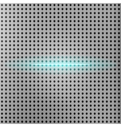 Beam of light with metallic grid background vector