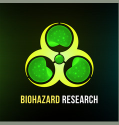 biohazard research poster with black background vector image
