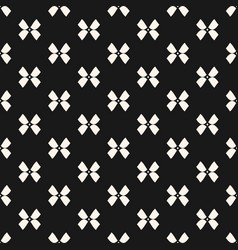 black and white seamless pattern with bows vector image
