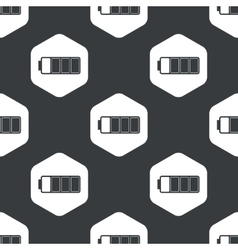 Black hexagon high battery pattern vector