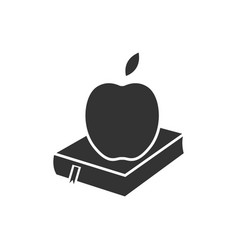 book and apple icon design template isolated vector image
