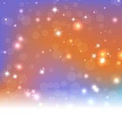 Bright Blue Orange Abstract Christmas Background vector