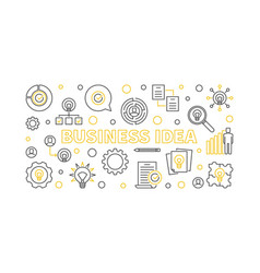 business idea banner or in vector image