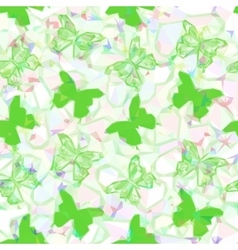 Butterflies Low Poly Pattern vector image