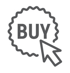 buy now button line icon e commerce vector image
