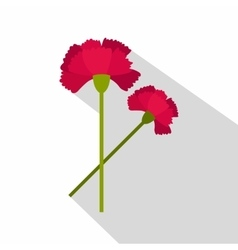 Carnations icon flat style vector