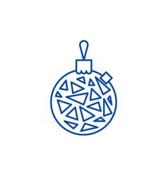christmas ball line icon concept christmas ball vector image