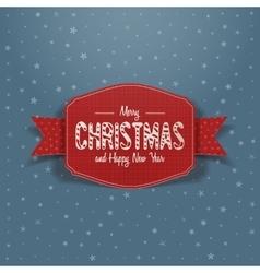 Christmas red greeting Card and Ribbon vector image
