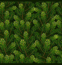 christmas seamless background from fir tree vector image