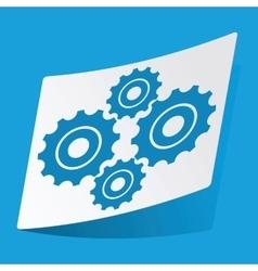 Cogs sticker vector