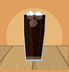 Coke glass cartoon vector