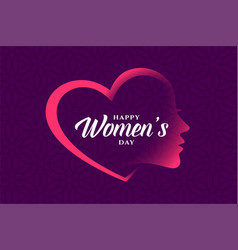 Creative heart and face womens day banner vector