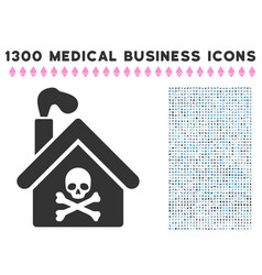crematory building icon with 1300 medical business vector image