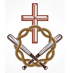 Criminal gangster dramatic emblem or logo vector