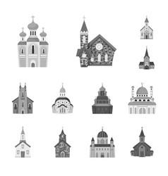 Design architecture and faith symbol vector