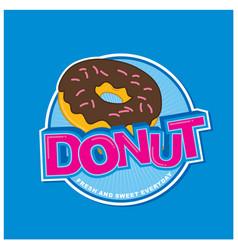 Donut-sticker-design vector