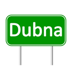 Dubna road sign vector