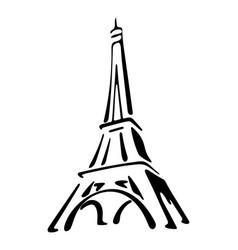 Eiffel tower is one of the most romantic parts of vector