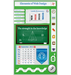 Elements of Web Design for Schools vector image