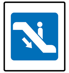 Escalator goes up sign vector