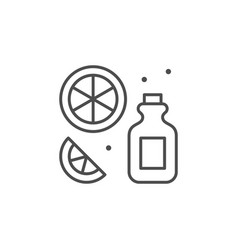 Essential oil line outline icon vector