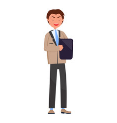 Executive manager isolated professional employer vector