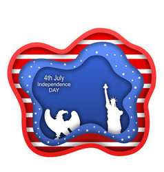 fourth july independence day usa statue vector image