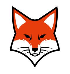 Fox face logo icon vector