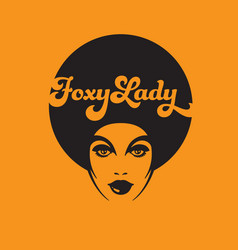 foxy lady retro vector image