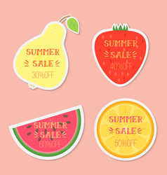 fruits with summer sale text vector image