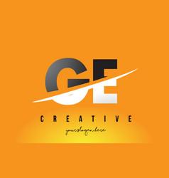 Ge g e letter modern logo design with yellow vector