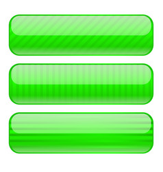 green rectangle buttons blank icons with stripe vector image