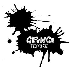 hand drawn grunge texture abstract ink drops vector image