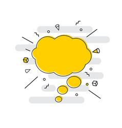 Hand drawn speech bubbles icon vector