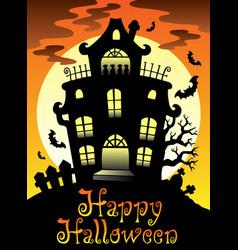 Happy halloween theme with moon 2 vector