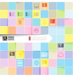 Inofographic template squares background vector