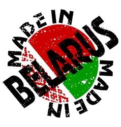 Label Made in Belarus vector