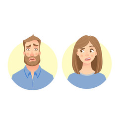 male and female face vector image