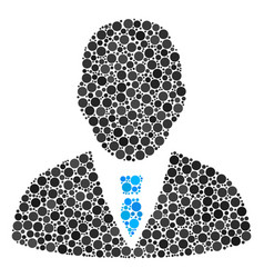 Manager mosaic of filled circles vector