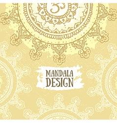 Mandala background Round Ornament Pattern Vintage vector image
