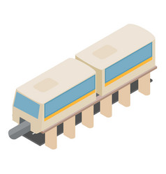 Monorail train icon isometric style vector