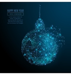 new year ball vector image