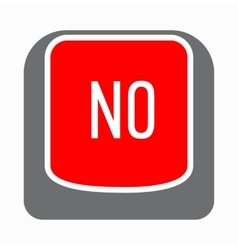 No red button icon simple style vector image