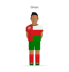 Oman football player Soccer uniform vector image