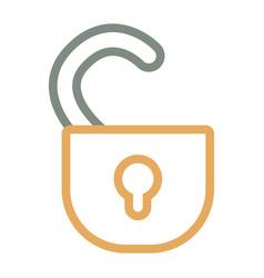 Open padlock icon image vector