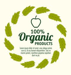 organic product design vector image