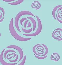 Pattern of light purple roses vector