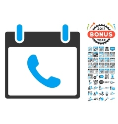 Phone Calendar Day Flat Icon With Bonus vector